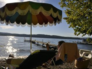 View from beach and dock - Canandaigua cottage vacation rental photo