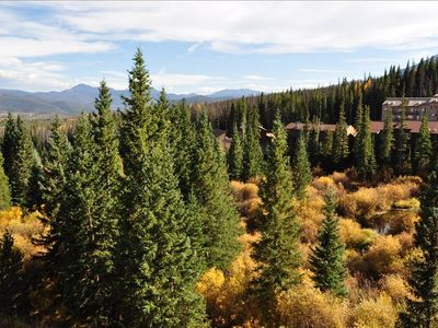 Views include Quandry, Torreys and Grays fourteeners, wildlife, Lake Dillon