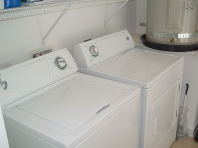 New washer and dryer to keep everything clean and easy and convienent