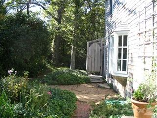 West Tisbury cottage photo - Rear of house and outdoor shower