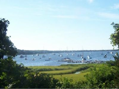 Spectacular views of Waquoit Bay from house.