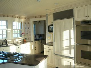 West Yarmouth house photo - Kitchen and Entry to Butler's Pantry with Wet Bar