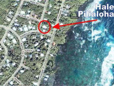 Kapoho house rental - You're Only a Block from the Big Blue Pacific Ocean - and Snorkling. YES!