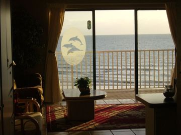 ocean views from every area of the living room