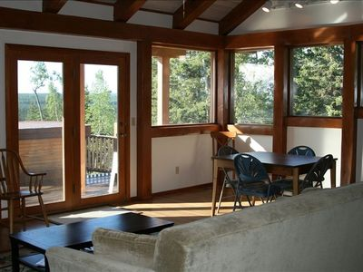 Relax inside or head out to the expansive deck with amazing view.