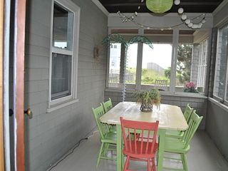 Scarborough and Pine Point house photo - Screened in porch with dining room table