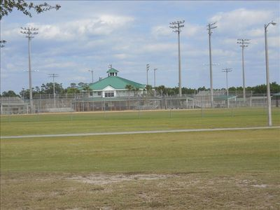 Softball and baseball fields at Frank Brown Park one mile from Horizon South