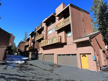 Mammoth Lakes condo rental - Front of the condo-with garage