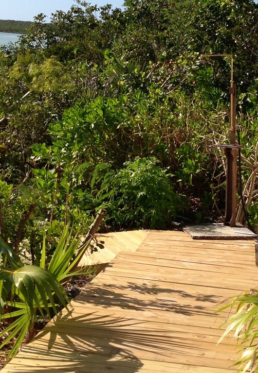 Walkway to Villa's Private Beach & Outdoor Shower
