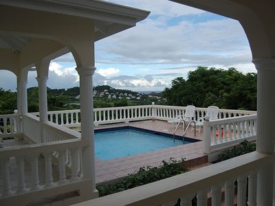 Gros Islet house rental - Sunbathe on the pool deck or relax in the balcony next to the pool