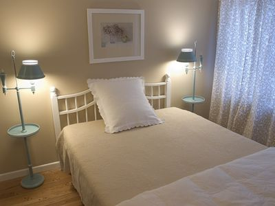 Wells chalet rental - The Beige Bedroom
