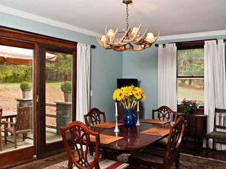 Rhinebeck property rental photo - Formal dining room seats 6 & leads to informal BBQs on the bluestone terrace.