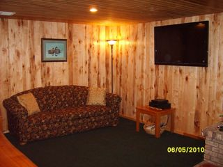 Munising chalet photo - Family Room, 2 couches 1w/pullout, bar area, flat screen tv, DVD/VCR