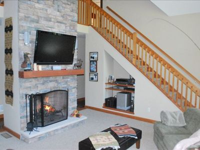 Family room and stairs.