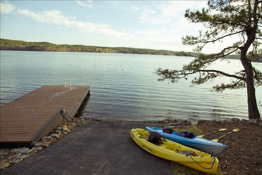 Private boat launch and pier for Lay lake fishing report