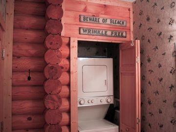 Convenient Washer/Dryer located in Haven's Rest Cabin
