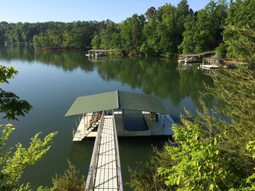 Lewis Smith Lake house rental - A 2 slip Covered Dock with Swim Platform