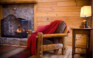 Stanardsville cabin photo - Cozy nook to curl up with a good book or glass of wine. Firewood provided.