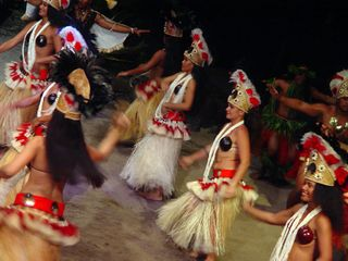 Moorea bungalow photo - Polynesian dance show in Moorea