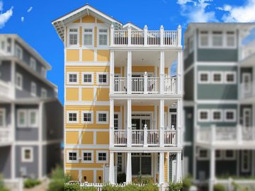 Wildwood Crest house rental - 4 stories, gorgeous ocean views, 4 BR + den + family room with sofa beds