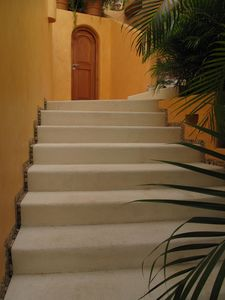 Stairs from Casa del Sol to Shalimar Suite
