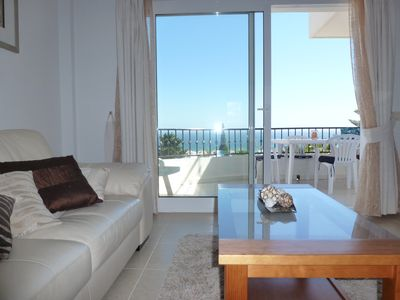 Mijas Costa apartment rental - View onto terrace from the lounge