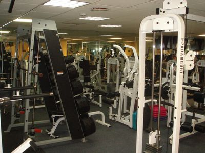 Work out at the resort's gym.