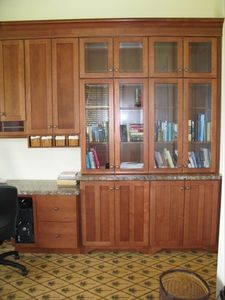 A partial view of the office cabinets.  Views from this room are spectacular!