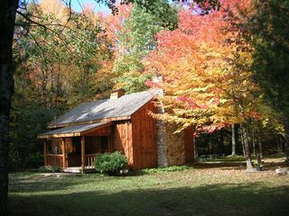 White Cloud cabin photo - Main cabin fall colors!