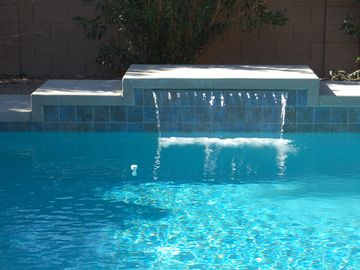 Chandler house rental - Pool with shear decent waterfall.