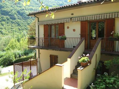 Bagni di Lucca villa rental - Guests entrance and balcony
