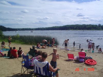 Fun in the sun at Cranberry Lake Beach..