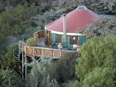 secluded mountain yurt