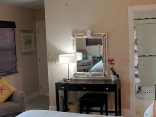 Marathon house photo - Master bedroom vanity with shell mirror
