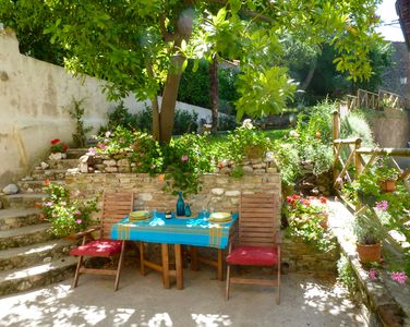 Amandola villa rental - Morning Terrace