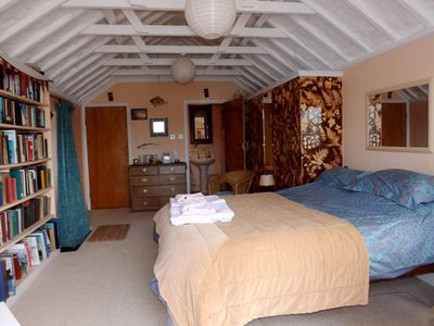 The large extra bedroom suite has its own bathroom tv, balcony and river views.