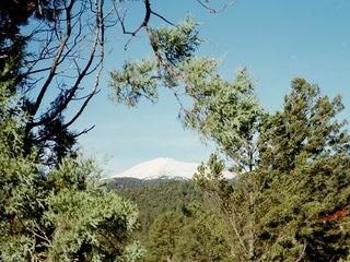 Ruidoso cabin photo - View of Sierra Blanca from deck!