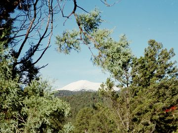 View of Sierra Blanca from deck!