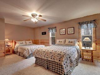 Wears Valley cabin photo - 2 queen beds, TV right of Game Room