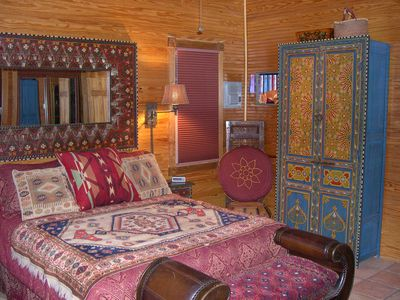 Dream of Arabian Nights in the Moroccan painted Master Suite.