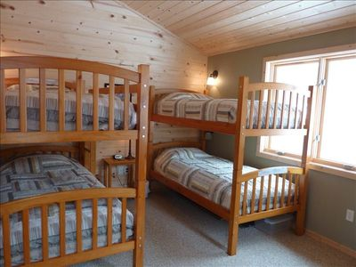 Let the kids' sleep in 1 of 2 cozy bunk rooms w/it's own bathroom steps away.