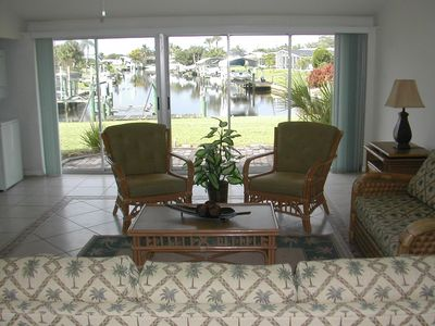 Port Charlotte house rental - Fantastic water view from living.