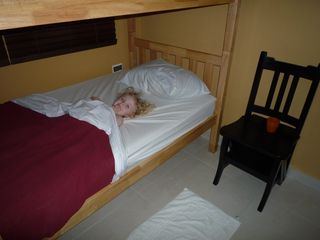 Aruba villa photo - My 3 year old daughter in the bunk bed.