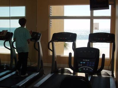 Your Gym with a Gulf Beach Front View