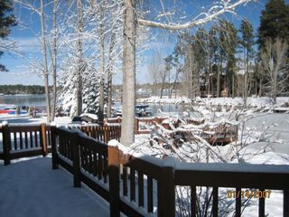 Pinetop house photo - Lake from deck in winter