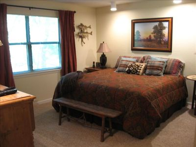 Bedrooms have a king bed with plush superior bedding and a flat screen TV.