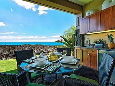 The view from our oceanfront Hali'i Kai condo