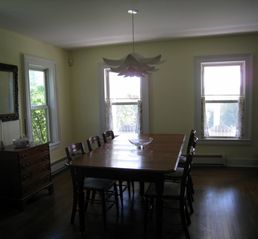 Roscoe farmhouse photo - Dining room, table seats 8