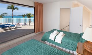 Nassau & Paradise Island villa photo - OCEAN FRONT DELUXE - Guest Bedroom View & Sun Deck