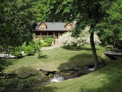 Beautiful, Creek W/Waterfall, Log Cabin, Near Maggie Valley & Waynesville